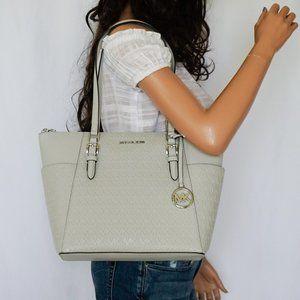 Michael Kors Charlotte L Tote Bag Grey